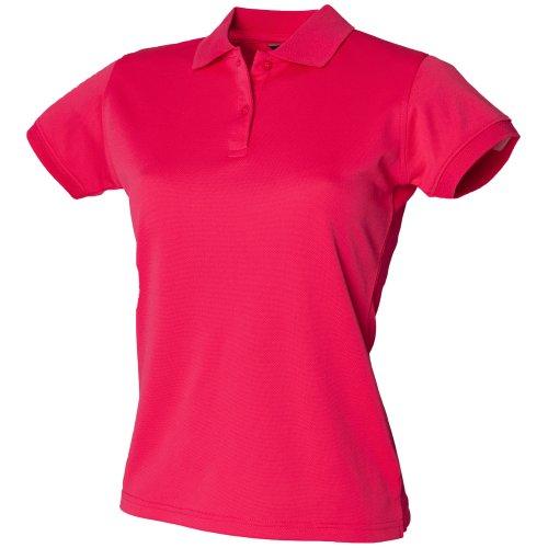 Polo forme ajustée évacuant l'humidité Henbury Coolplus® pour femme Bordeaux