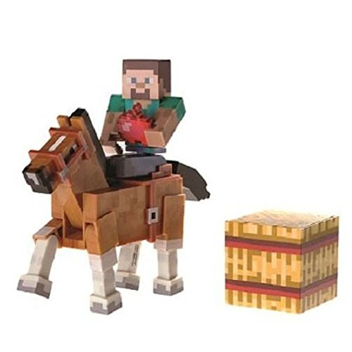 Minecraft Steve with Chestnut Horse