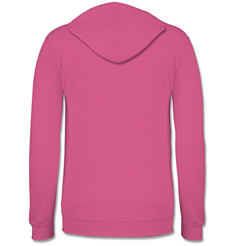 Statement Shirts - Sarcasm Loading - please wait - Kontrast Hoodie Rosa/Fuchsia
