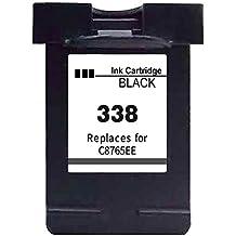 Ink_seller Cartucho de tinta reemplazo para HP 338 para HP PSC 1500, 1510, 1510xi, 1513, 1513s, 1600, 1605, 1610, 2350, 2352, 2353- Negro