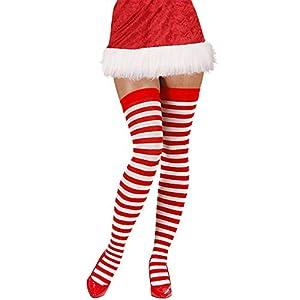 WIDMANN Striped Over The Knee Socks White & Red 70 Denier Standard One Size Fits Most 2070V (disfraz)