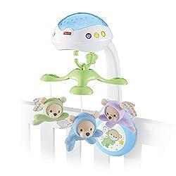 Fisher-Price CDN41 - 3-in-1 Traumbärchen Baby Mobile mit Halterung, Nachtlicht mit beruhigender Musik, White Noise und Sternenlicht Projektor, ab Geburt