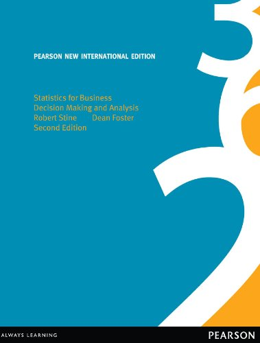 Statistics for Business: Pearson New International Edition: Decision Making and Analysis (English Edition)