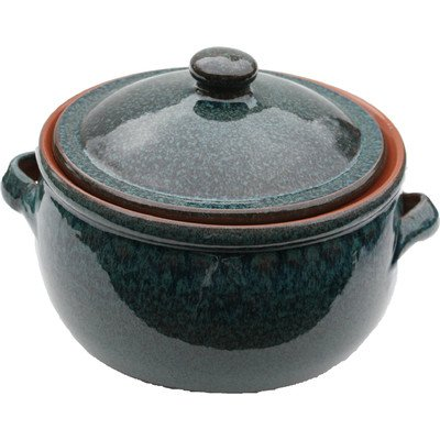 Amazing Cookware 3 Litre Terracotta Stew Pot, Peacock Green from Amazing Cookware