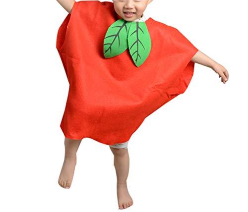 zhruiqun Kids Fruits Halloween Outfits Kind Leicht Party Kostüme Mädchen Fancy Kleid (Apple)