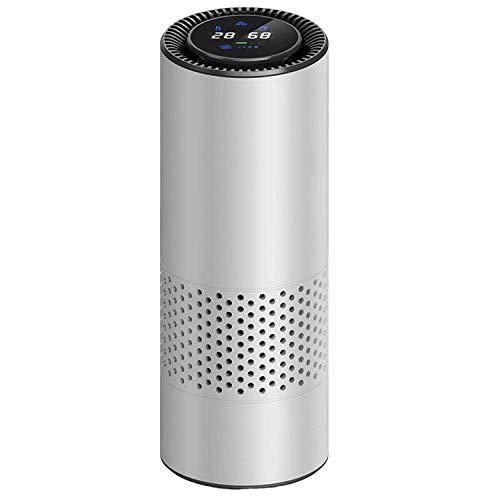 PANQQ Auto Luftreiniger Geruch zusätzlich zu Formaldehyd PM2.5 Smog Negative Ionen zu riechen, um Geschenke Silber zu senden