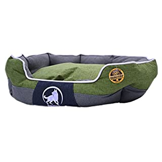 Aquagart Premium XL Hundebett für große Hunde I Hundekorb für große Hunde waschbar I Hundekissen robust I Hundekörbchen mittelgroße Hunde I Größe 100cm x 80cm x 25cm I grün