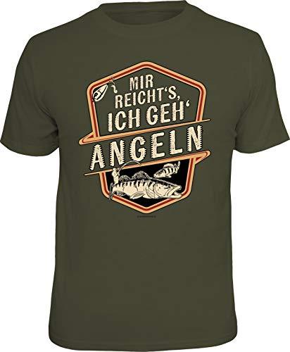 Männer Geschenk T-Shirt für Angler und Fischer: Mir reicht's - Ich GEH' Angeln - La Angels T-shirt