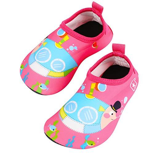 Tagvo Scarpe da Acqua per Bambina, Scarpe da Bagno Aqua Sock a Asciugatura Rapida per Piscina da Spiaggia