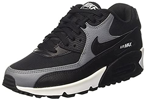 Nike Damen Air Max 90 Gymnastikschuhe, Schwarz (Black/Black-Cool Grey-Black), 40