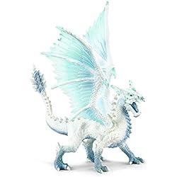 Schleich- Figura dragón de hielo, Color agua, 17'5 cm