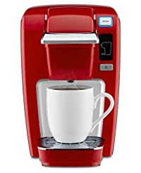 Chili Red : Keurig K15 Single Serve Compact K-Cup Pod Coffee Maker, Chili Red