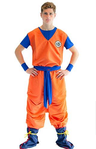 CoolChange Drachenball 3 Teiliges Son Goku Cosplay Kostüm, Größe: M