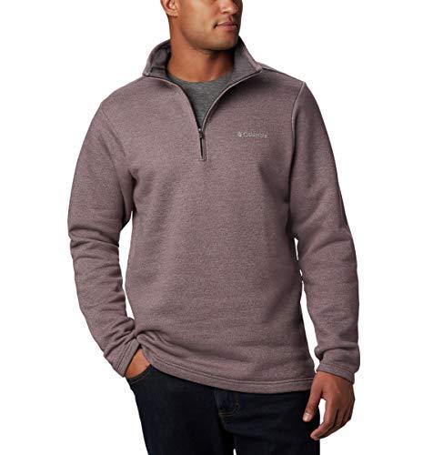 Columbia Herren Hart Mountain III Half Zip Pullover, Purple Sage Heather, Mittel (Columbia Pullover Für Männer)