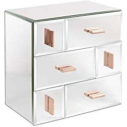 Beautify Boîte à Bijoux 6 tiroirs - Solution de Rangement pour Table ou Bureau (Miroir)