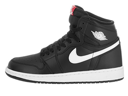 Nike Jungen Air Jordan 1 Retro High Og Bg Basketballschuhe Black (Black (schwarz / weiß-schwarz-Uni-Netz))