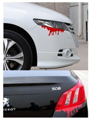 DESIGN FREUNDE KFZ Aufkleber Autosticker Sticker Aufkleber Car Design Auto Autoaufkleber Folie Autotuning Tuning Blut