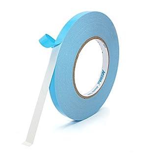 Mounting Tape, Atemto Double Sided Foam Tape 19.68mil X 0.39inch X 65ft Industrial Strength Sticky Adhesive Glue Heavy Duty Dustproof Waterproof (10mm)