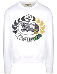 BURBERRY Homme 8007074 Blanc Coton Sweatshirt 311187de820
