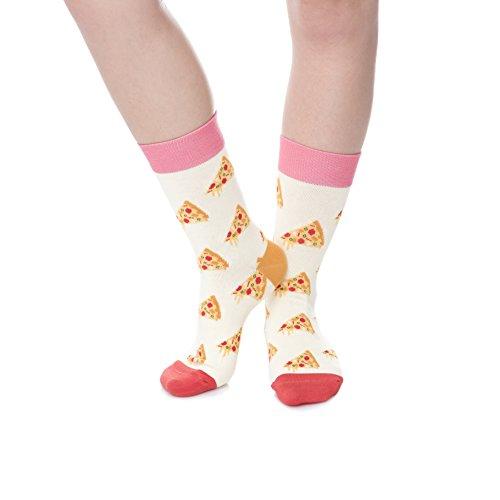fringoo-calcetines-cortos-para-hombre-multicolor-pizzas-ecru-para-hombre-73-76