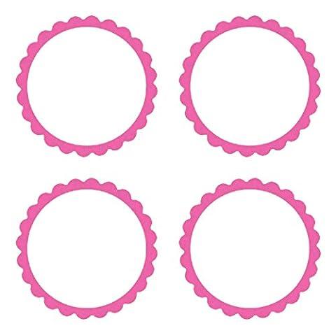 Amscan bonbons festonné Étiquettes, rose
