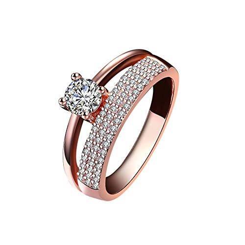 Versilberter Diamant blauer Kristalldreischicht Ring YunYoud titanringe vergoldete stahlringe billige eheringe holzringe doppelring echtschmuck damen ohrringe verlobungsring
