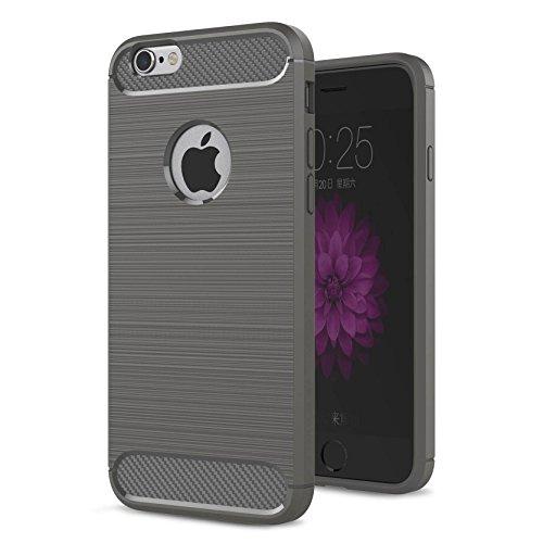 "AOFad Menthe Coque Pour iPhone 6,[4.7""], Confortable Tréfilage, Protection des lourds TPU TPU Armure Série TF041 TF040+Grey"