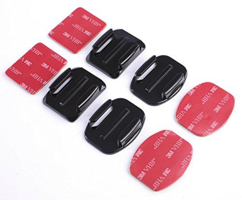 SET Kleb Befestigung Helm Klebende Befestigung für GOPRO SJCAM Xiaomi Klebebänder mit Sticky Pads für GoPro Kameras G79