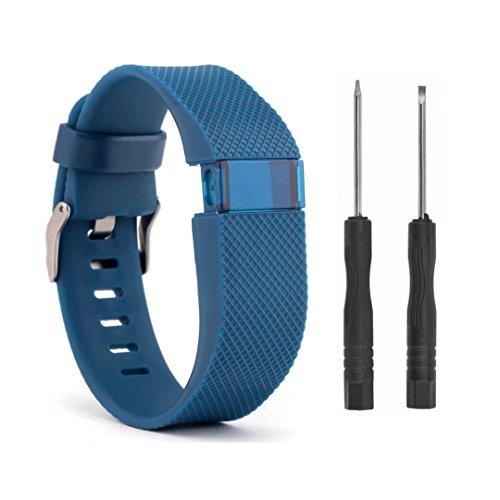 VAN-LUCKY Silikon Ersatzbänder Armband Armband für Fitbit Charge HR Band Zubehör Large (NICHT fit Fitbit Charge, Fitbit Charge 2)