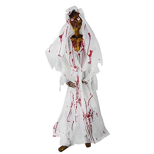 Braut Trockene Nachtlicht Simulation Menschliches Skelett Mit Blut Ghost Dekoration Spukhaus Wohnzimmer Schlafzimmer Studie Eingang Villa Leuchte A +++ ()
