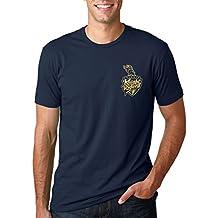 iLyk Men's IPL KKR chest logo GOLD Printed T-Shirt