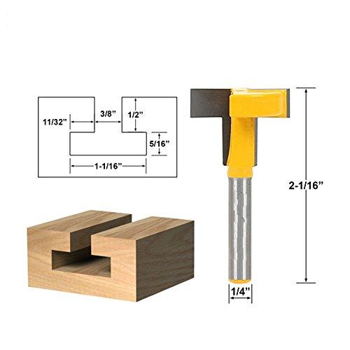 """AKUTA 1/4"""" vástago superior calidad ranura en T & T-Track Slotting Router Bit para carpintería cincel cortador al por mayor precio"""