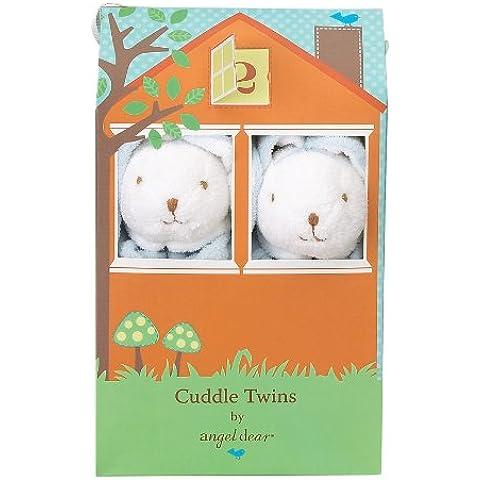 Angel Dear Blankie Cuddle Twin Set - Floppy Bunny Blue, Floppy Ear Blue Bunny