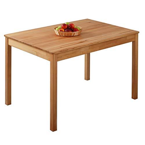 Krokwood Tomas Massivholz Esstisch in Buche 110x75x75 cm FSC100{a7537c3a4e7f197d6c1c66c1462138567e24d477c10677da7070233033d08ce1} massiv Tisch geölt Buchenholz Esszimmertisch Küche praktischer Küchentisch Holztisch vom Hersteller