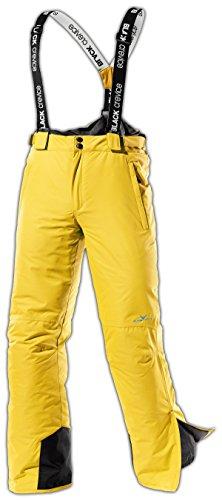 Black Crevice Herren Skihose, gelb, 52, BCR251001-YE