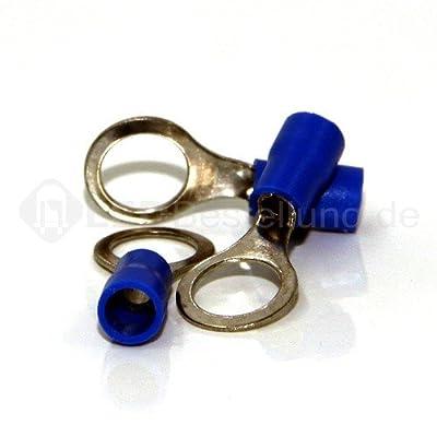 20 Ringkabelschuhe M8 blau 1,5-2,5mm² Ringkabelschuh Quetschkabelschuhe Ringösen von SN-Import GmbH bei Lampenhans.de