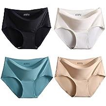 FEOYA Slip Femme Invisible sans Couture Culotte Ultra Lisse Mince Doux  Sous-Vêtement Respirant Super 6497551609d