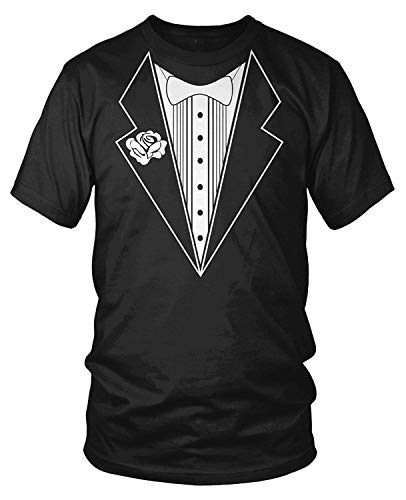 Men's Tuxedo with White Bowtie Tux T-Shirt -