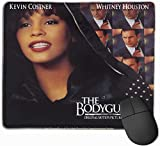 Whitney Houston The Bodyguard Computer Gaming Mouse Pad (9.85x11.8In), Office Antidérapant Mouse Pad with Edge Stitching, Home Anime Gaming Mouse Pad Small