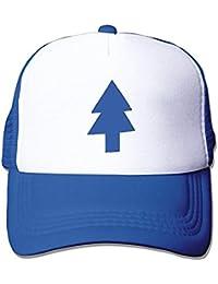 Rbfqfm Dipper Flat Hat Blue Pine Tree Printed Baseball Trucker Mesh Hat deddb96fdbf4