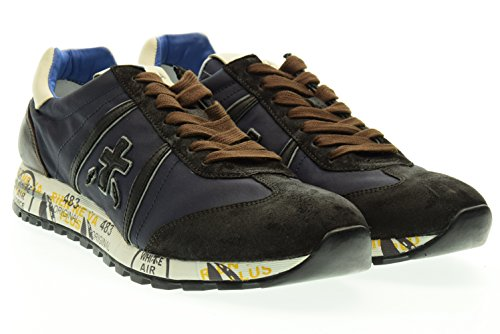 PREMIATA uomo sneakers basse LUCY 1650 43 Marrone-blu
