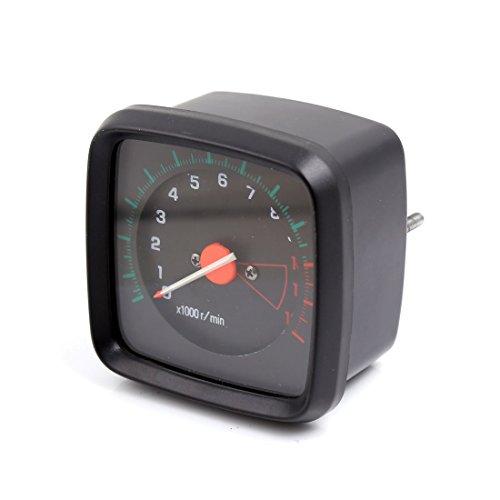 sourcingmap® 0-12000 r/min Schwarze Kunststoffschale quadratische Form Drehzahlmesser Manometer für GS Motorrad
