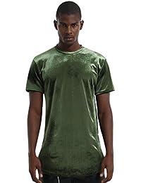 009029b888a65d PIZOFF Unisex Hip Hop Samt T-Shirt aus Velours mit seitlichen  Reißverschlüssen in Versch.