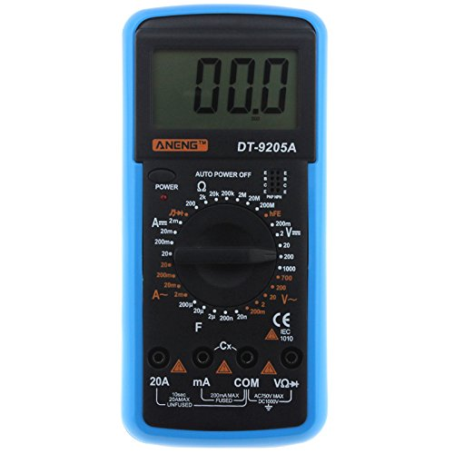 ANENG DT9205A Digitales Multimeter, AC/DC, Spannung, Widerstand, Kapazität, Dioden-Tester