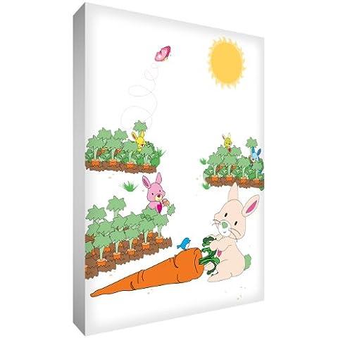 Feel Good Arte - lona lienzo A4 para la habitación del niño, diseño: Conejo
