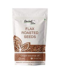 Ancient Bites Roasted Flax Seeds | Unsalted (250 g)