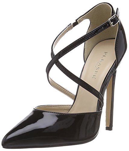Pleaser Devious SEXY-26, Damen Knöchelriemchen Pumps, Schwarz (Blk Pat), 44 EU (11 Damen UK) 5 Zoll Stiletto Heel Platform