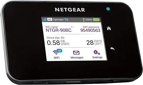 NETGEAR AC810-100EUS LTE Router/Mobiler WLAN Router (WiFi Hotspot, 4G Router, bis zu 600 Mbit/s, 802.11ac Standard, Cat 11, Powerbank, ohne SIM-Lock)