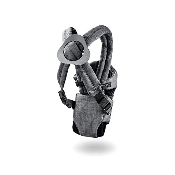 Hauck 2 Way Carrier, Ergonomic Baby Carrier Newborn to Toddler from Birth up to 12 kg, Softly Padded, Two Carrying Possibilities, High Level of Carrying Comfort, Melange Charcoal Hauck 2 carrying possibilities on the front Reinforced head and back area Safe and ergonomic baby carrier 7