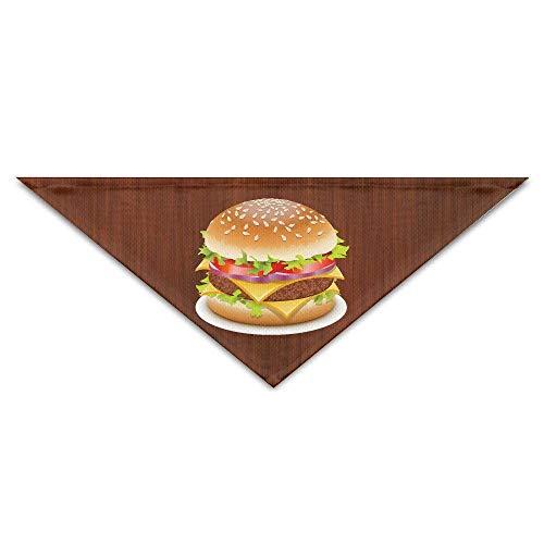 Hectwya Cheeseburger Hund Athletic Dog Bandana Cherished Logo Print Dreieck Kopftücher Welpen Bandanas
